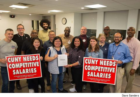 Competitive salaries for CUNY College Laboratory Technicians (CLT's